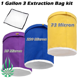 1 gallon 3 bags extraction bag