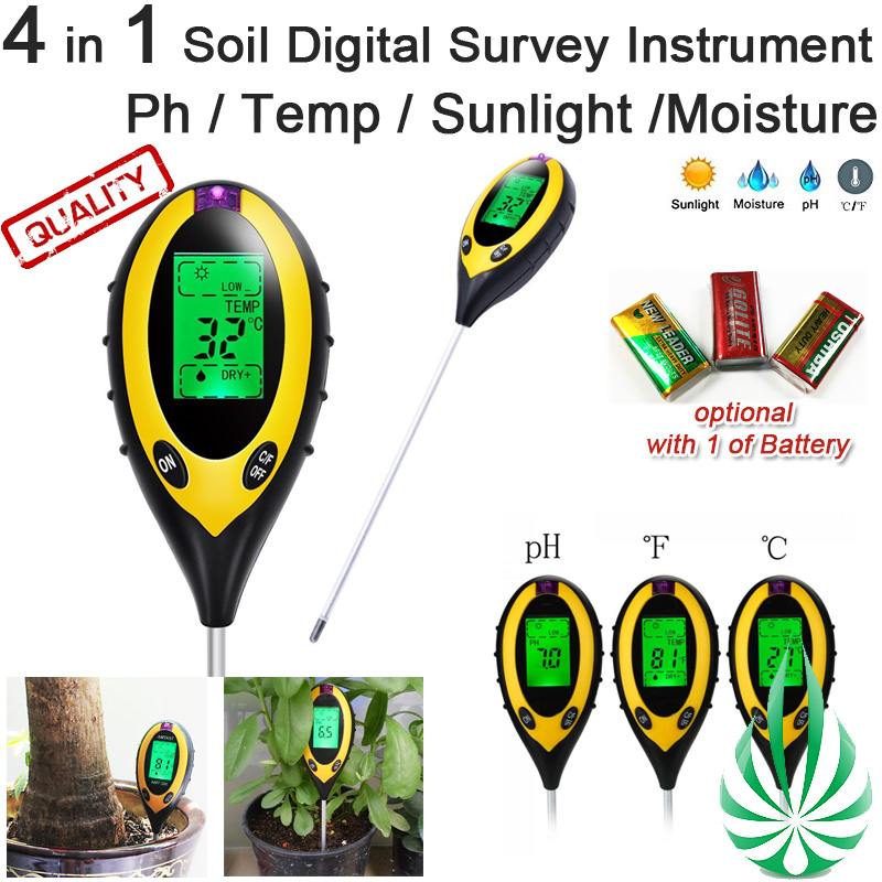 4 in 1 soil ph meter