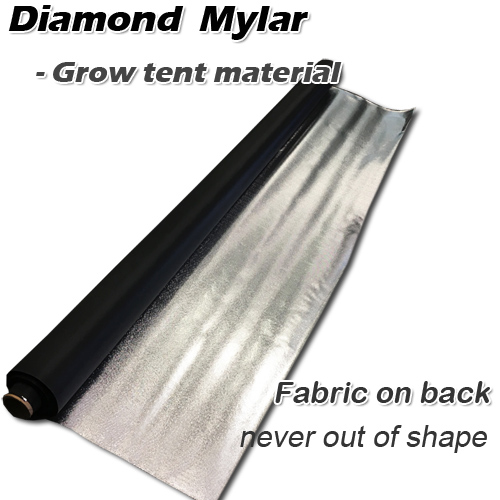 diamond mylar hydro film on fabric